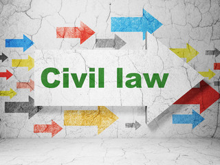 Law concept: arrow with Civil Law on grunge wall background