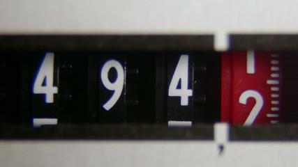 Electricity meter display dial