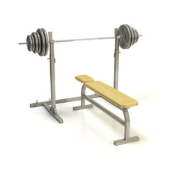 Barbell bench press isolated