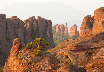 Belogradchik rocks at sunrise. Bulgaria.