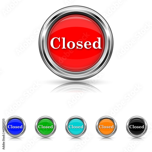 Closed icon - six colours set