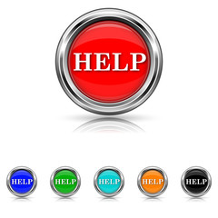 Help icon - six colours set