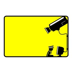 Video surveillance sign - CCTV Camera - Vector