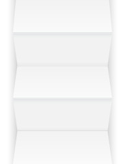 Sheet of paper with folds