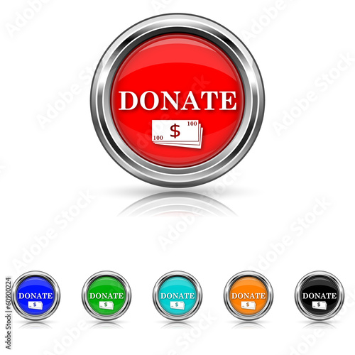 Donate icon - six colours set