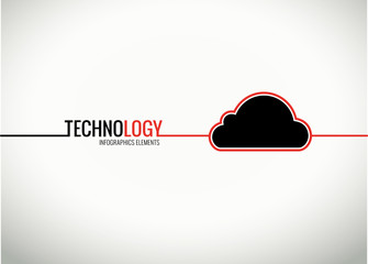 Vector cloud technology infographics element