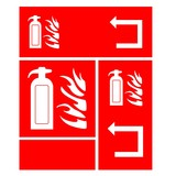 Fire Extinguisher - Red warning sign - vector