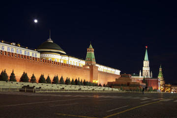 Moscow,the Kremlin, the Red square at night. Russia