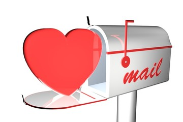Heart in mail box