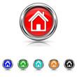 Home icon - six colours set