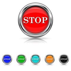 Stop icon - six colours set