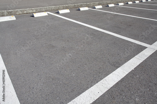 Car parking Lot at outdoor With White Marking