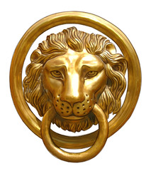 The door handle - the head of a lion.