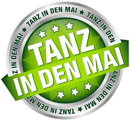 "Button Banner ""Tanz in den Mai"" grün/silber"