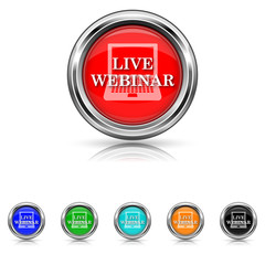 Live webinar icon - six colours set