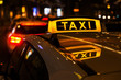 canvas print picture - Taxis am Taxistand