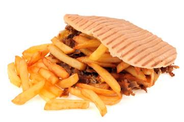 Le kebab frites