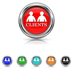 Clients icon - six colours set