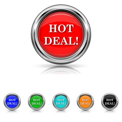 Hot deal icon - six colours set