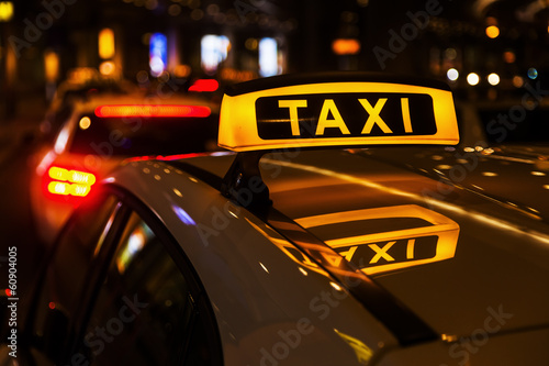 canvas print picture Taxis am Taxistand