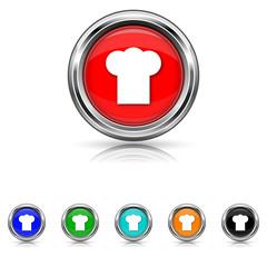 Chef icon - six colours set