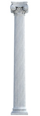 Ionic Column isolated. Clipping path