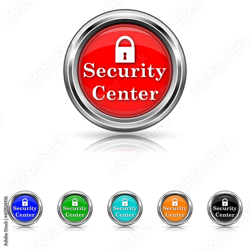 Security center icon - six colours set