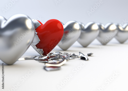 Metallic Hearts - Difference / Individuality Concept