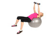 Dumbbell Chest Fly on Stability Fitness Ball Exercise