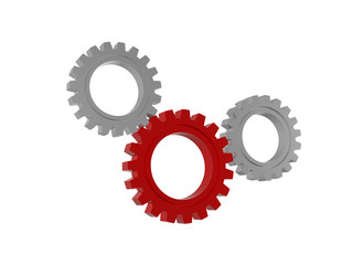 gear wheels symbols isolated