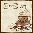 Coffee background with cup