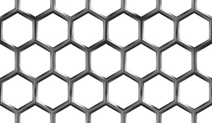Metallic Honeycomb Seamless Pattern