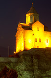 Metekhi church in the night