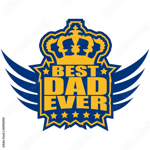 Best Dad Ever King Wings Logo