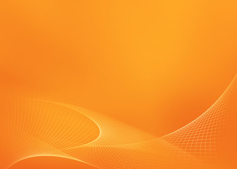 Orange Glowing Background