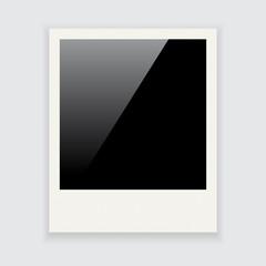Polaroid photo frame isolated on white background