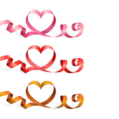 Ribbons with heart