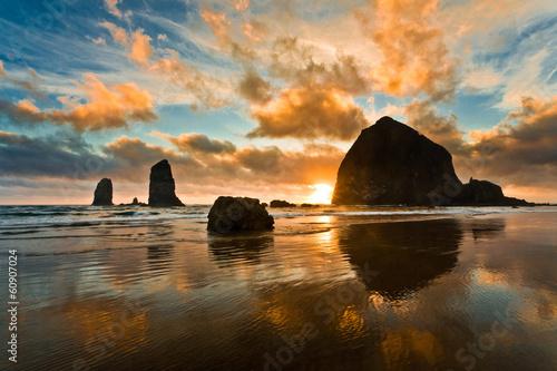Fotobehang Strand Haystack Rock