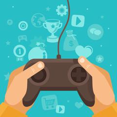 Vector online game concept
