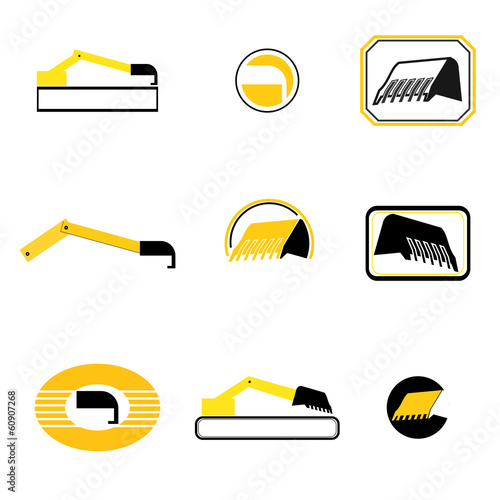 graphic design - mechanical means in yellow and gray