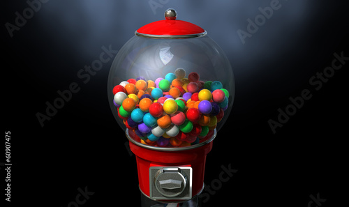 Gumball Dispensing Machine Dark