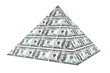 Financial concept. Abstract money pyramid