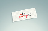 It is Sunday!