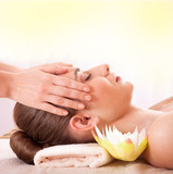 Woman Getting Massage Facial, Body in Spa. Treatment Cosmetics
