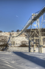 Вантовый мост для конвейера