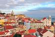 Multicolor houses of Lisbon