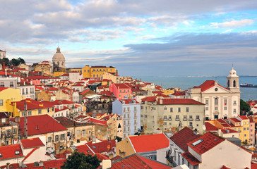 Multicolor houses of Lisbon