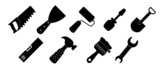 Different tools icon vector illustration set1