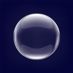 Glass Ball With Blue Background