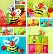 Collage of simple balloon animals